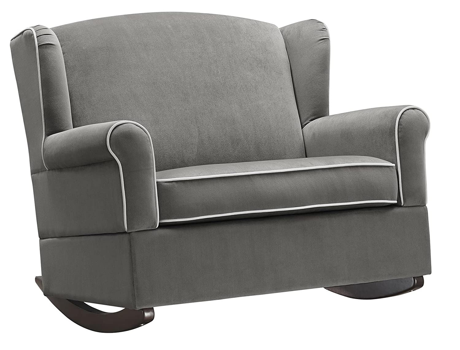 Baby Relax Lainey Wingback, Super-Wide Nursery Rocker, Graphite Gray - Color: Gray Dorel Home Furnishings DA6735-GR
