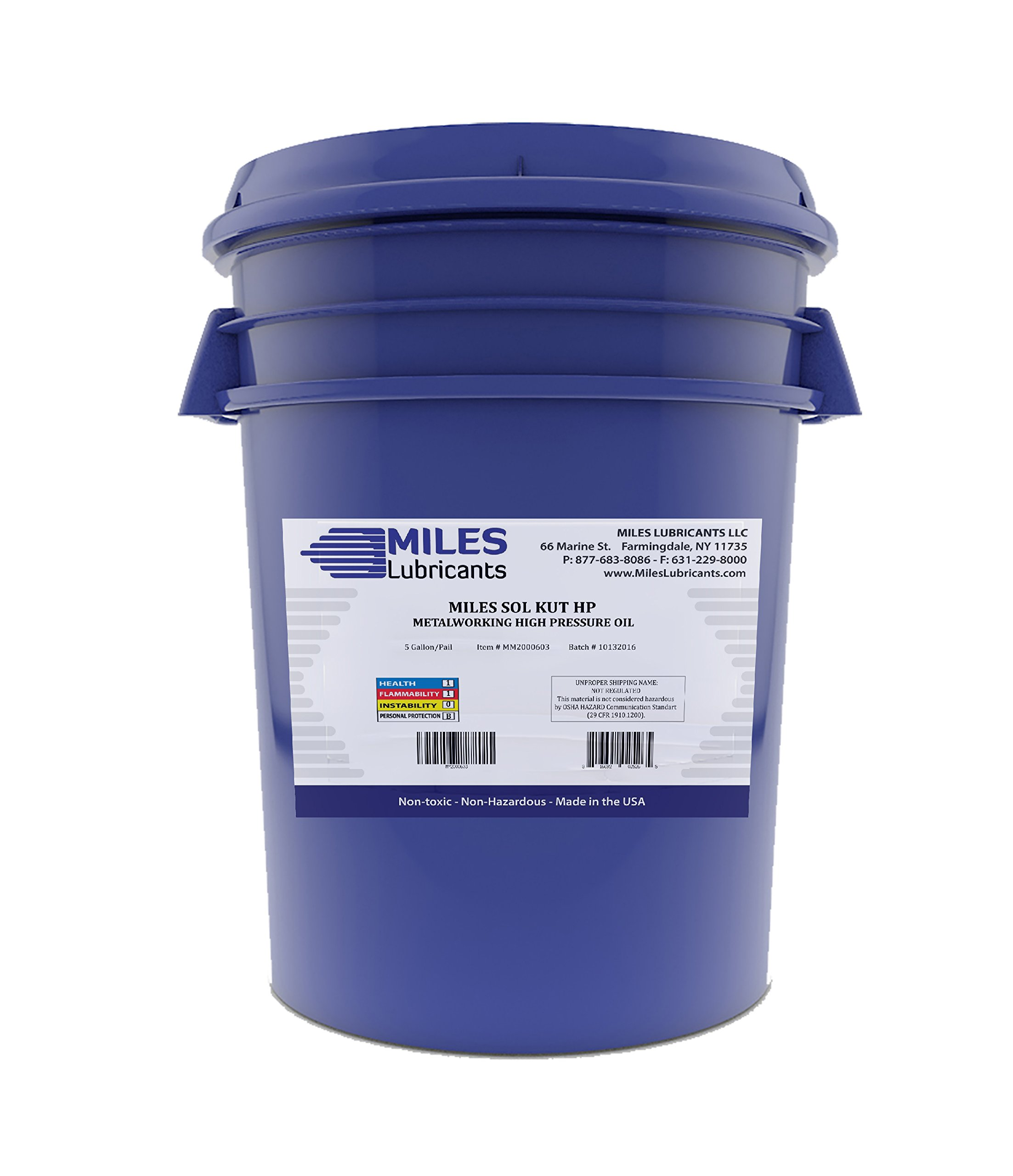 Miles Sol Kut Hp Mineral Based Water Soluble Cutting Fluid 5 Gal. Pail