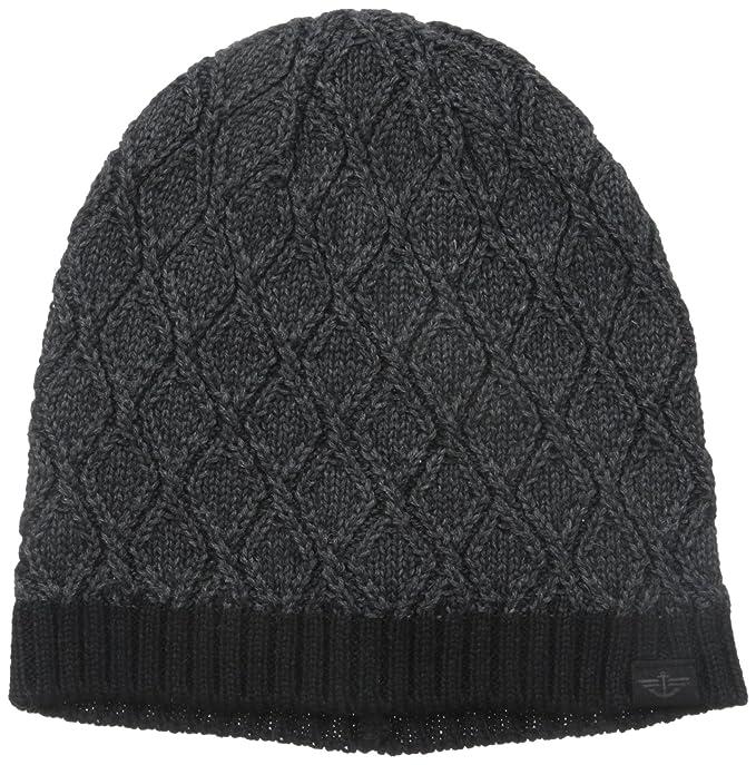84162dcde38 Dockers Men s Heathered Diamond Knit Skull Beanie Hat