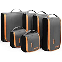 Packing Cubes, BAGSMART Packing Cubes Set of 6 Pcs , Hard Side Travel Organizer Easier Pack Fit in Carry on Suitcase…