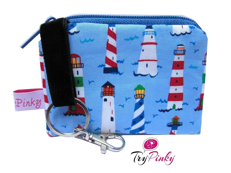 TryPinky/® Schl/üsseletui Tasche M/äppchen Leuchtt/ürme Leuchtturm Meer Maritim Blau Geschenk Schl/üsseltasche Schl/üsselm/äppchen
