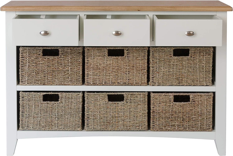 One Size Pure White Gayles Hallway Storage Wood