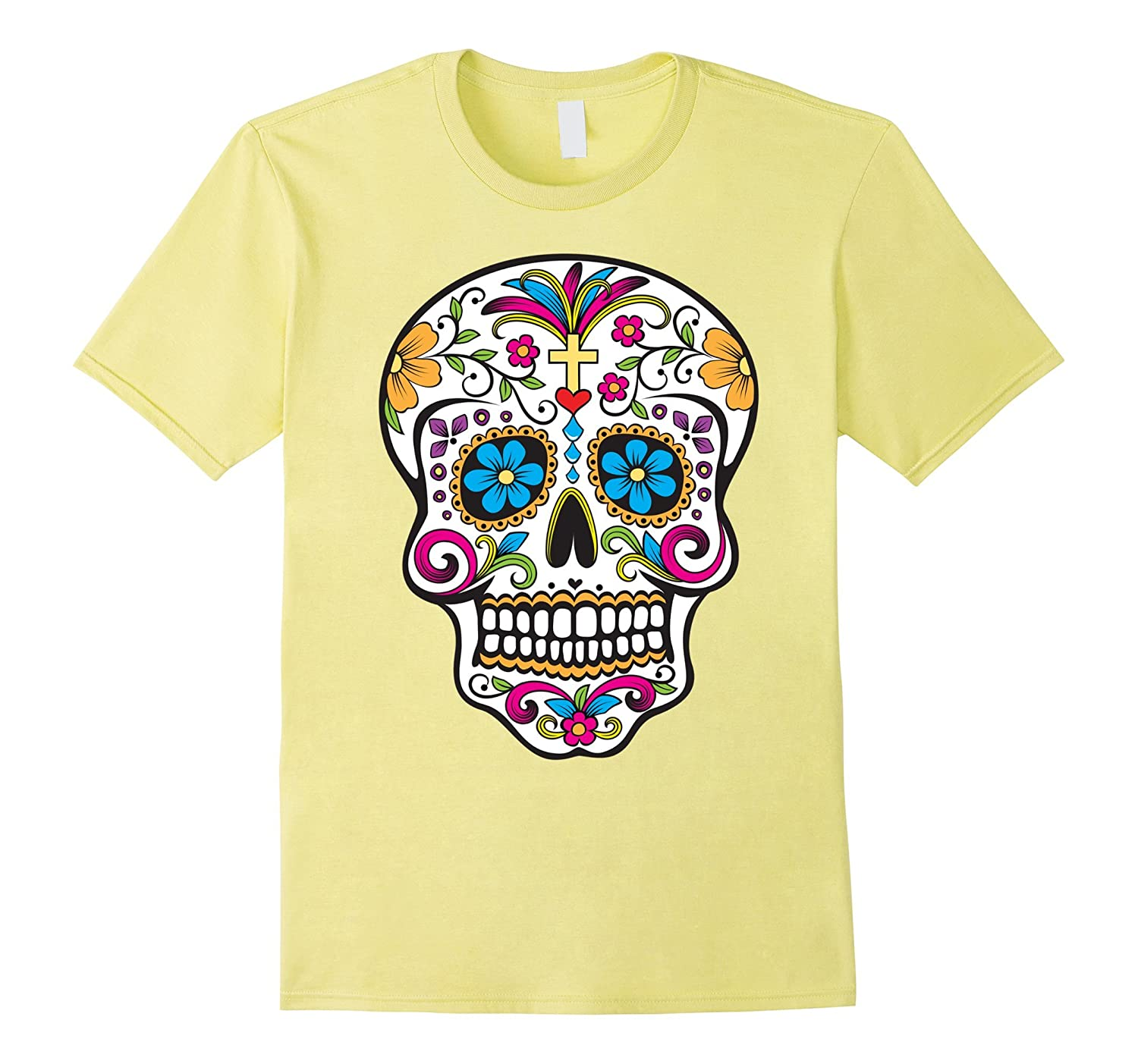 03768d1b1 Day of the Dead Sugar Skull T-Shirt-ANZ - Anztshirt
