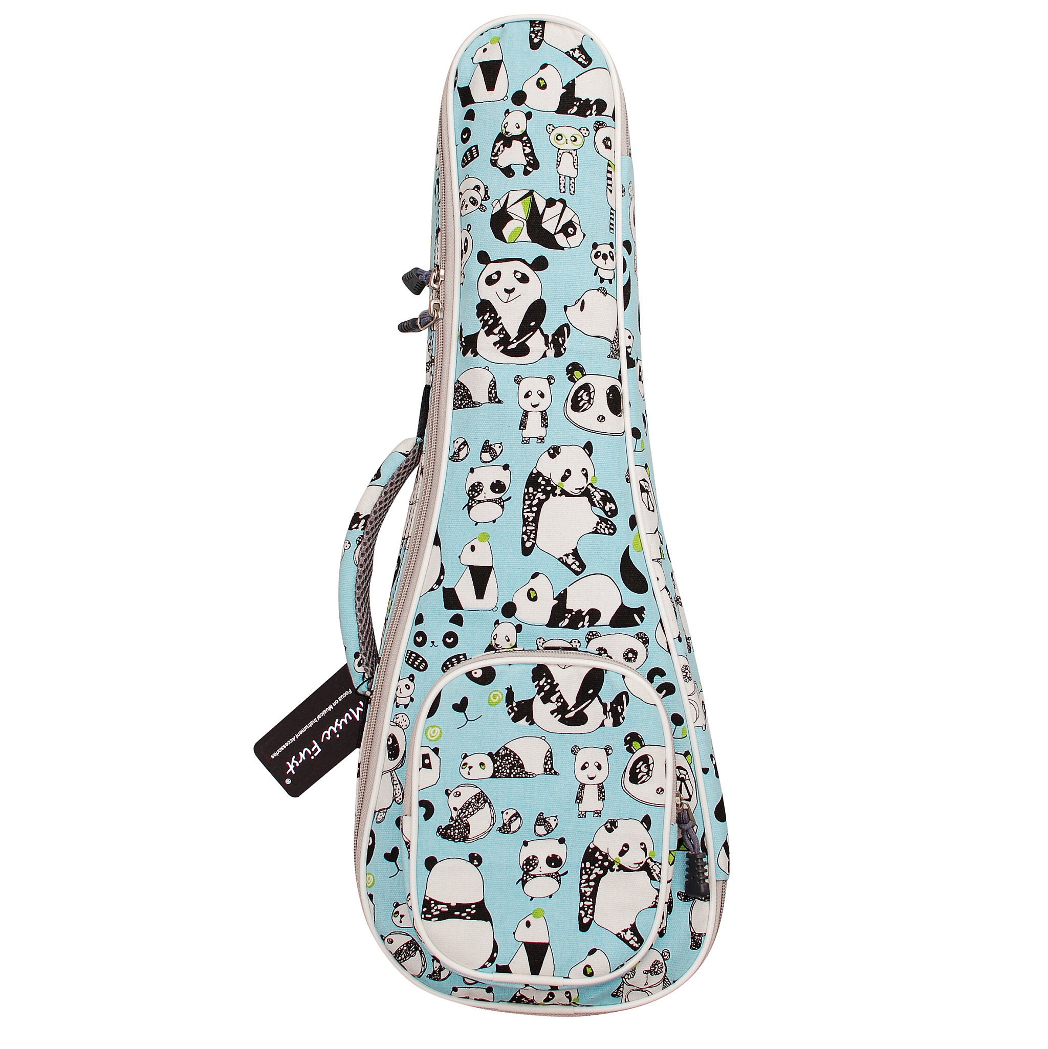 MUSIC FIRST cotton''PANDA'' ukulele case ukulele bag ukulele cover, New Arrial, Original Design, Best Christmas Gift. (21 inch Soprano, PANDA)