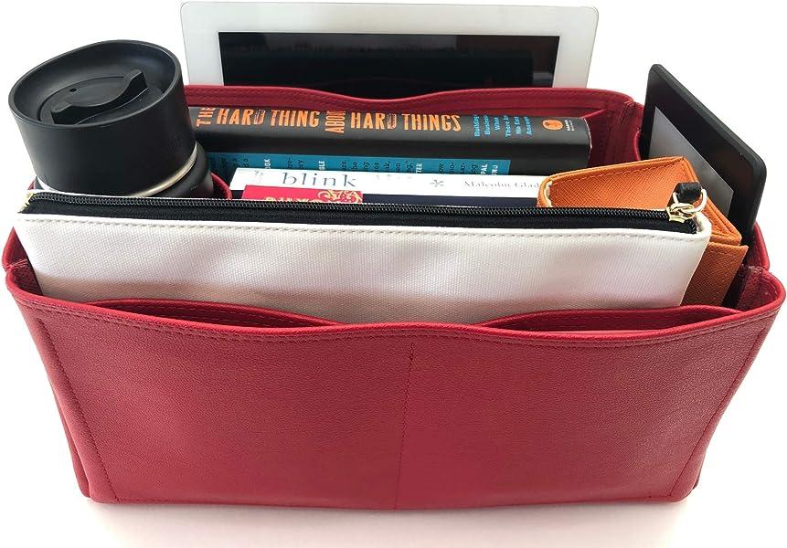 2b02073e53bd Amazon.com  Purse Organizer Insert for LV Graceful Handbag - Fits inside  Louis Vuitton Graceful MM bag - Deluxe Leather (Red)  Shoes