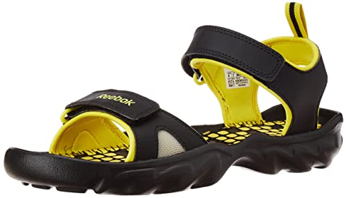 2e5885c8b47f1 Image Unavailable. Image not available for. Colour  Reebok Men s Super Drive  2.0 LP Black and Yellow Sandals and Floaters - 11 UK