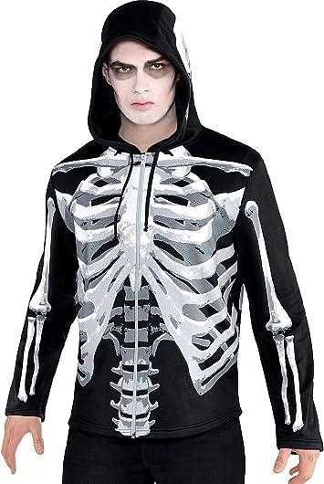 Amscan International Sudadera con Capucha Esqueleto Negro/os para ...