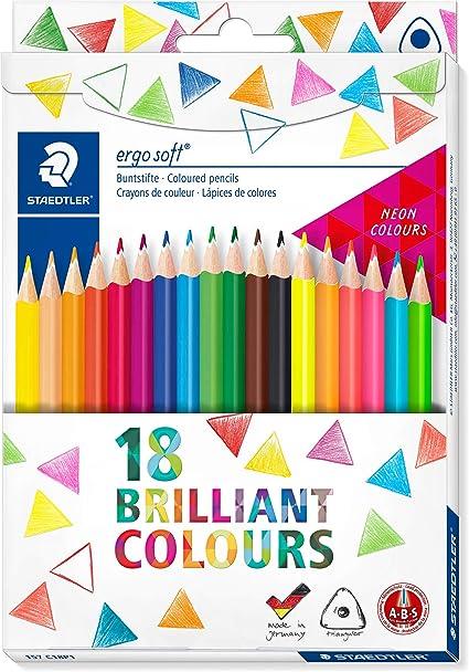 Staedtler Ergosoft 157 C18P1. Lápices de color triangulares. Caja con 14 unidades de colores variados: Amazon.es: Oficina y papelería