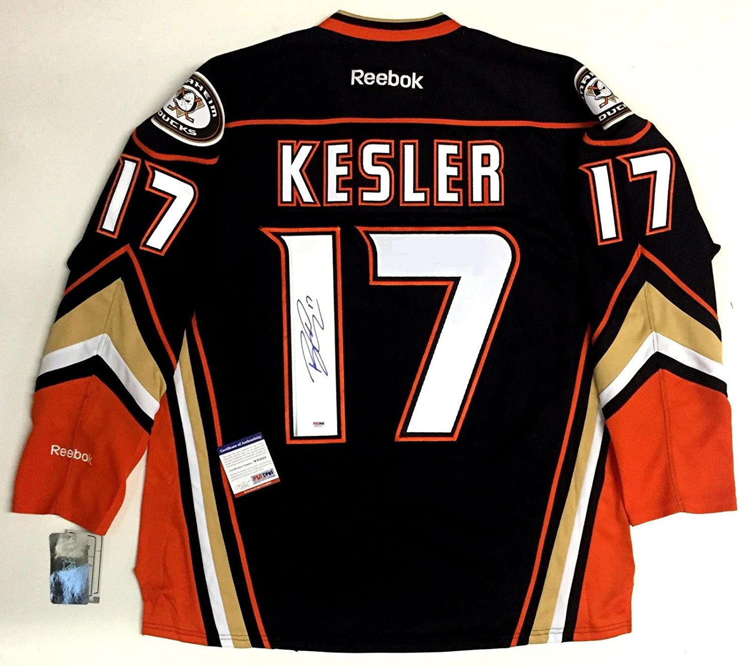 competitive price a5599 1dc9e Ryan Kesler Autographed Jersey - Anaheim Ducks Reebok ...