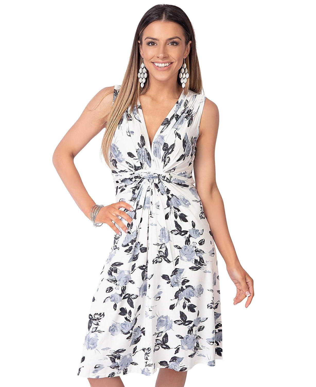 TALLA 36. KRISP Vestido Corto Patinadora Vuelo Fruncido Busto Gris (6252) 36