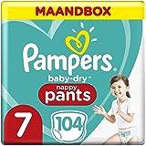 Pampers Baby-Dry Pants Maat 7, 17kg+, 104 Luierbroekjes, Eenvoudig En Leuk Verschonen Overdag En Bescherming 's Nachts…