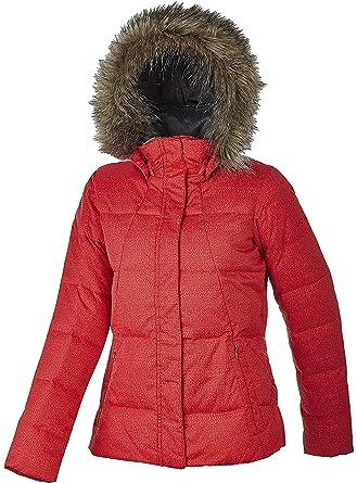 4116837ea Amazon.com: Columbia Women's Varaluck III Down Hooded Jacket RED ...