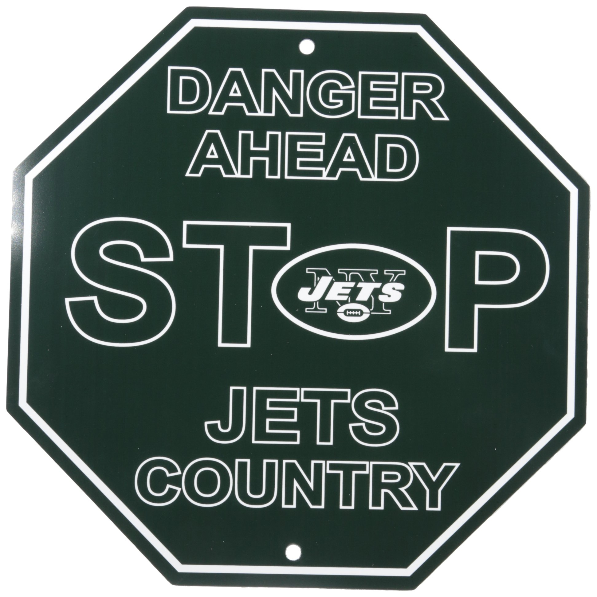 """NFL New York Jets Stop Sign, 12"""" x 12"""