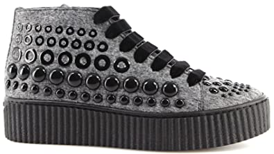 13b4cc6c153 Women's Shoes Sneakers PINKO Shine Baby Shine Bolsena I42 Grey Studs New