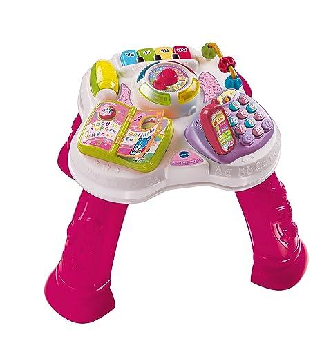 VTech Baby - Mesita parlanchina 2 en 1, mesa de actividades infantil con panel interactivo