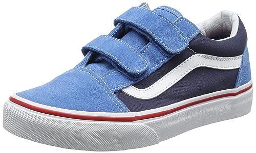 Vans UY Old Skool V, Zapatillas para Niños, Azul (2 Tone Cendre Blue/Parisian Night), 31 EU: Amazon.es: Zapatos y complementos