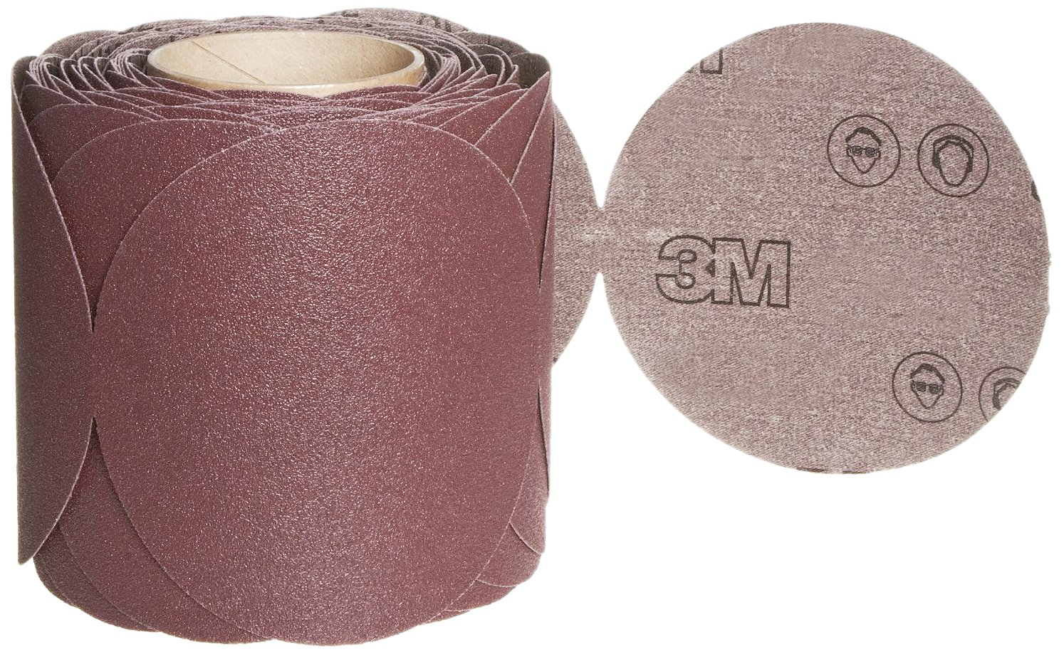 3M Stikit Cloth Disc Roll 341D, PSA Attachment, Aluminum Oxide, 5'' Diameter, 80 Grit (Roll of 100)