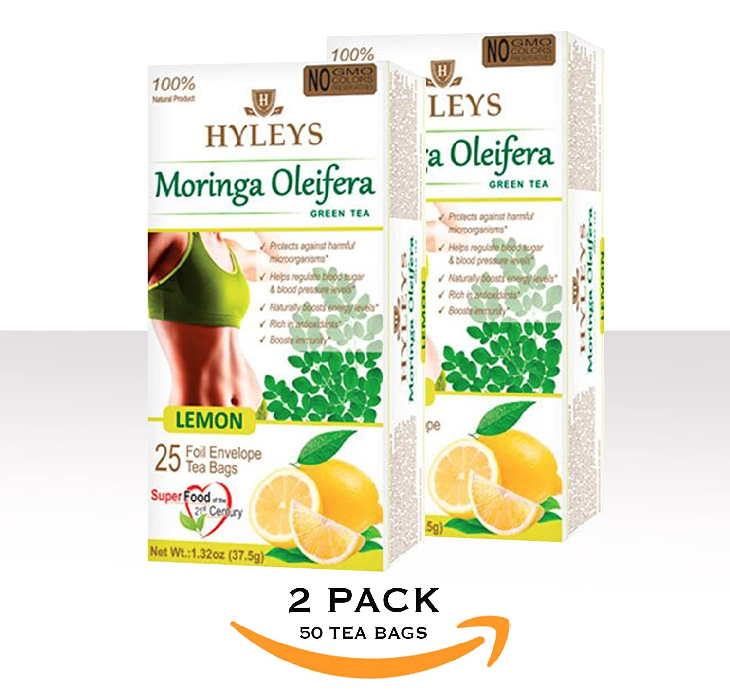 Hyleys 2 Pack 100 Natural Tea Bags Detox Slim Detoxslim Sleep Set 25 Foil Envelope Acai Berry Grocery Gourmet Food