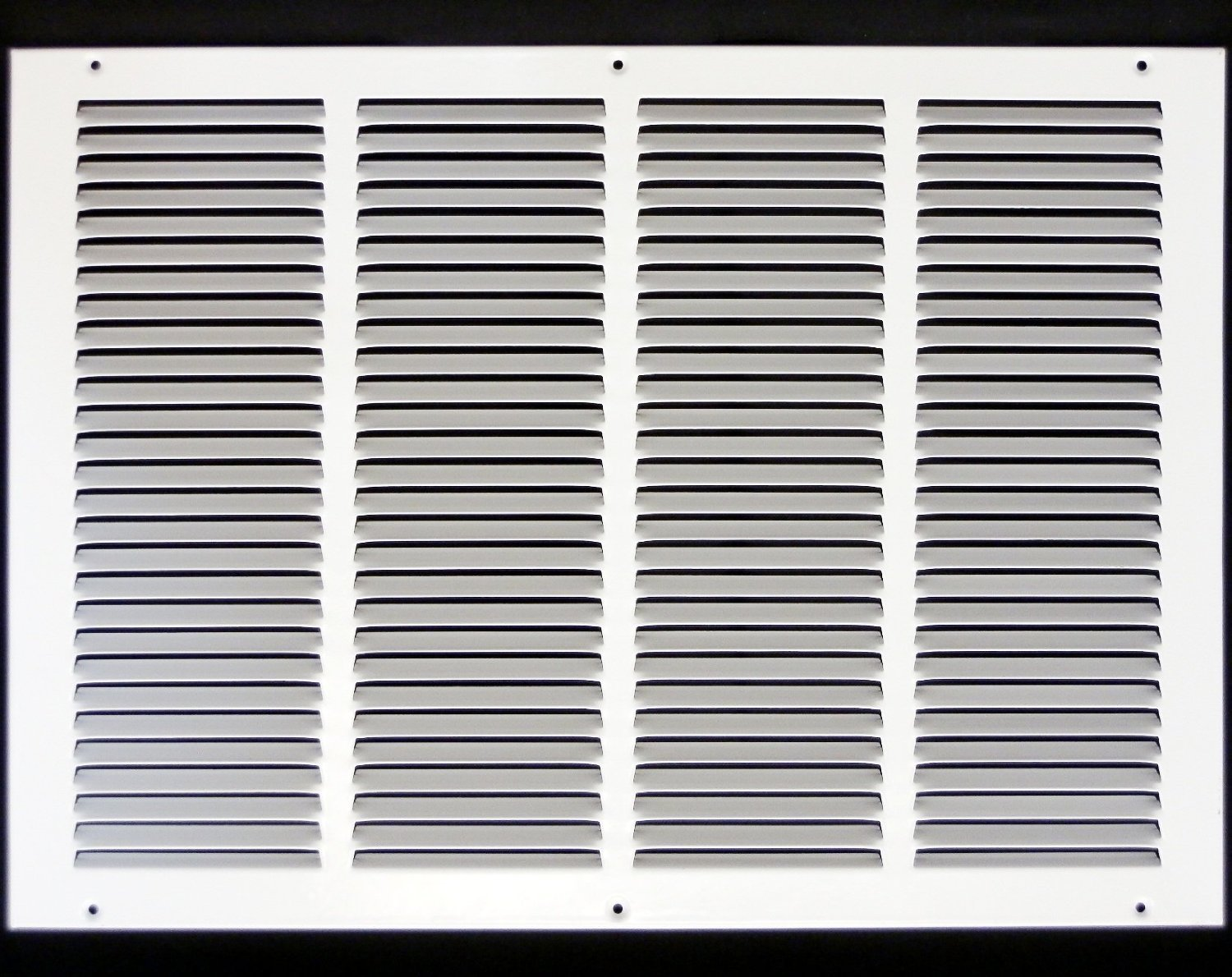 20''w X 14''h Steel Return Air Grilles - Sidewall and Cieling - HVAC DUCT COVER - White [Outer Dimensions: 21.75''w X 15.75''h]