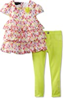 Calvin Klein Little Girls' Ruffled Top With Pant