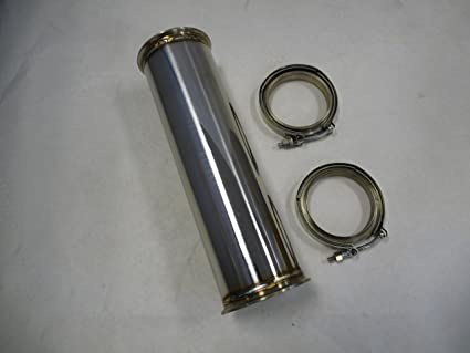 """OBX Stainless Universal Modular Exhaust Down Pipe 4/"""" OD 4/"""" V-Band Downpipe"""