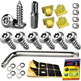 Aootf Anti Theft License Plate Screws - Stainless Steel License Plate Frame Screws Tamper Resistant Fasteners | Security…