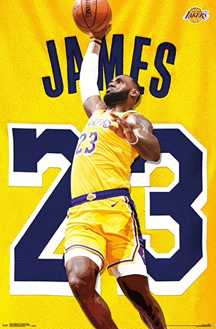 """dec3c7a8e1c Trends International Los Angeles Lakers - Lebron James Action Wall Poster  22.375"""" ..."""