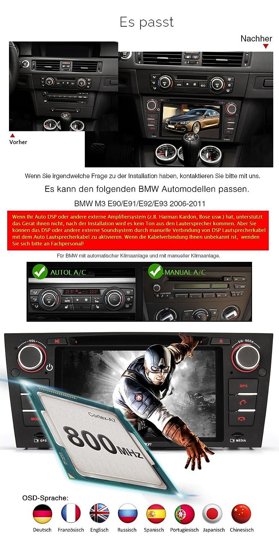 PUMPKIN Autoradio DVD CD Player für BMW 5er E39 M5: Amazon.de ...