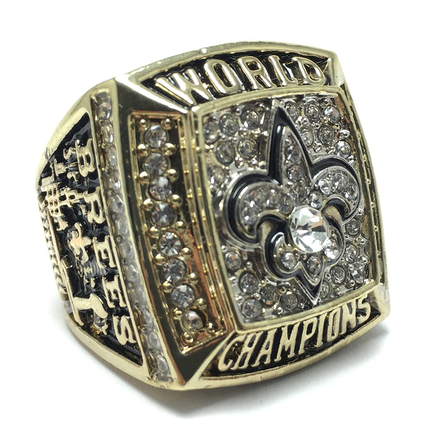 darrell chicago xli with bowl box lot saints lg super rings player detail ring nfc bears champions mcclover presentation