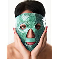 Ice Face Mask Therapy - Cooling Masks For Puffiness- Reusable Eye Mask For Puffy Eyes - Beads Eye Mask - Eye Mask Gel…