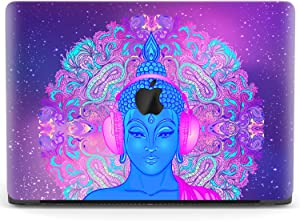 Mertak Hard Case for Apple MacBook Pro 16 Air 13 inch Mac 15 Retina 12 11 2020 2019 2018 2017 Laptop Cover Touch Bar Buddha Print Psychedelic Plastic Clear Protective God Funny Music Mandala Trippy