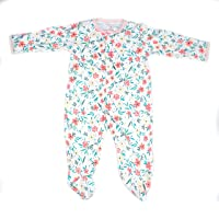 Flower Print Bodysuit Beautiful Baby Girl Outfits Long-Sleeve