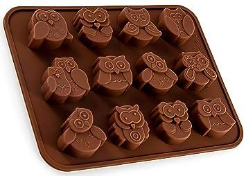 Silikonform Mit Eulen Uhu Pralinenform Schokolade Giessform