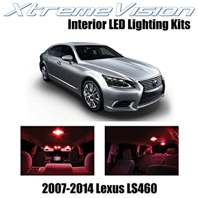 XtremeVision Interior LED for Lexus LS460 LS600h 2007-2014 (13 Pieces) Red Interior LED Kit + Installation Tool: Automotive