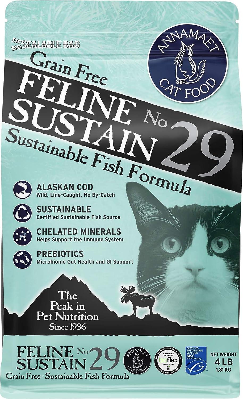 Annamaet Grain-Free Feline Sustain No. 29 Formula Dry Cat Food, (Line-Caught Cod & Free-Range Turkey)