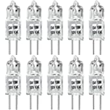G4 Halogen Light Bulbs, 10W Bin-Pin(2pin)12 Volts JC Type,Clear bulb(Pack of 10)