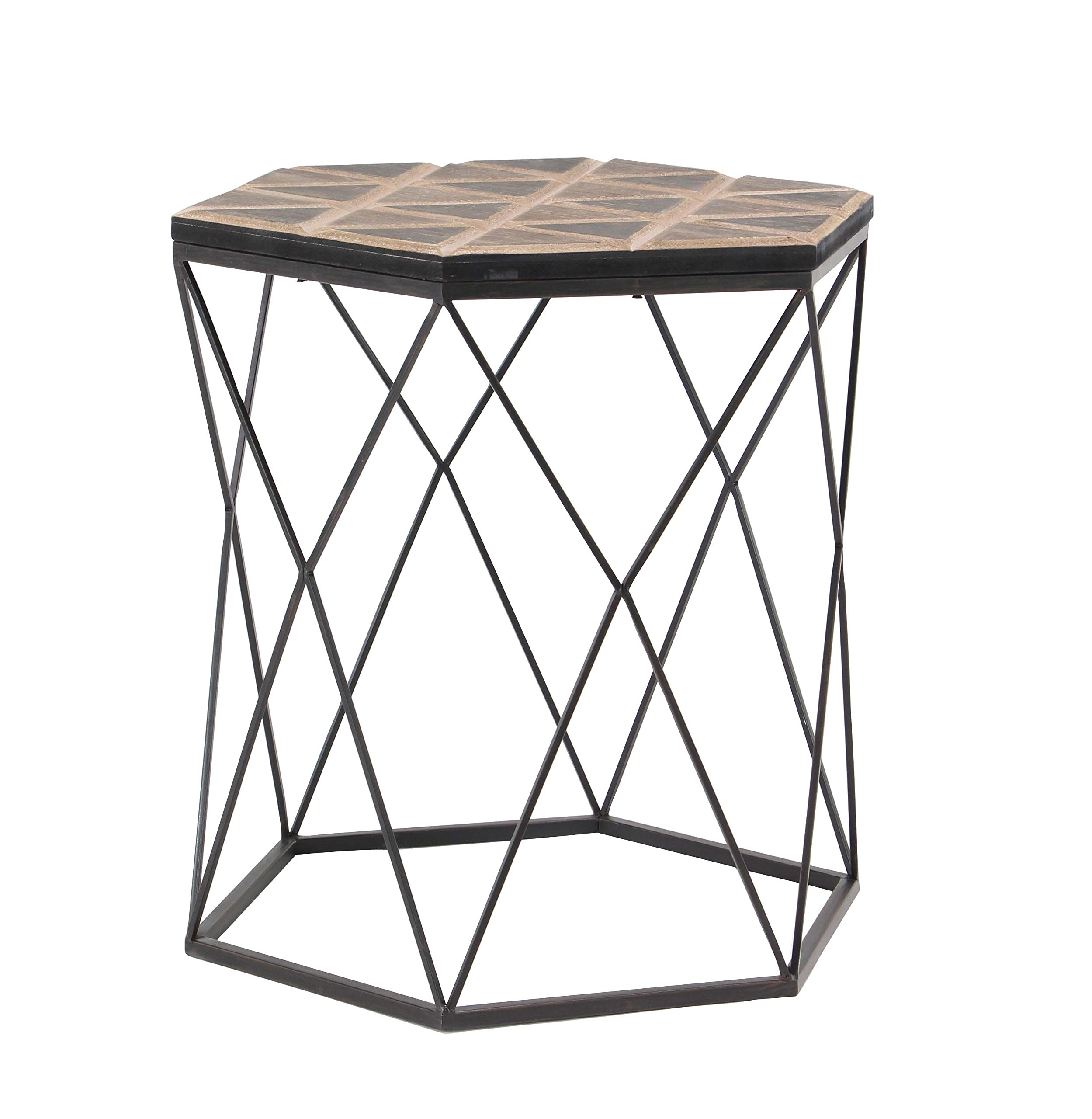 Deco 79 98748 Accent Table Brown/Gray by Deco 79 (Image #2)