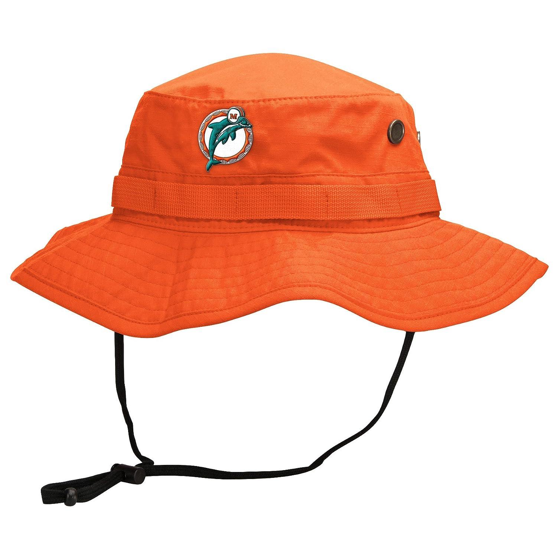 b0f93a7dcd4 Amazon.com  Miami Dolphins Mitchell   Ness Boonie Bucket Hat (L XL)   Clothing