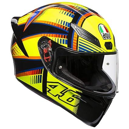 AGV Unisex-Adult Full Face K-1 Soleluna 2015 Motorcycle Helmet Yellow/Black Medium/Large