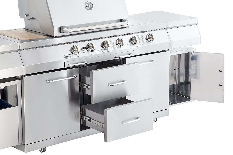 Außenküche Mit Gasgrill : Coobinox edelstahl gasgrill brenner outdoor kitchen piano