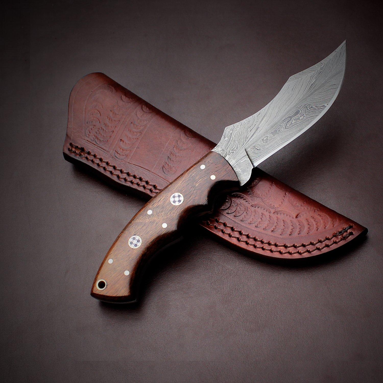Amazon.com: Hecho a mano patrón de acero de Damasco cuchillo ...
