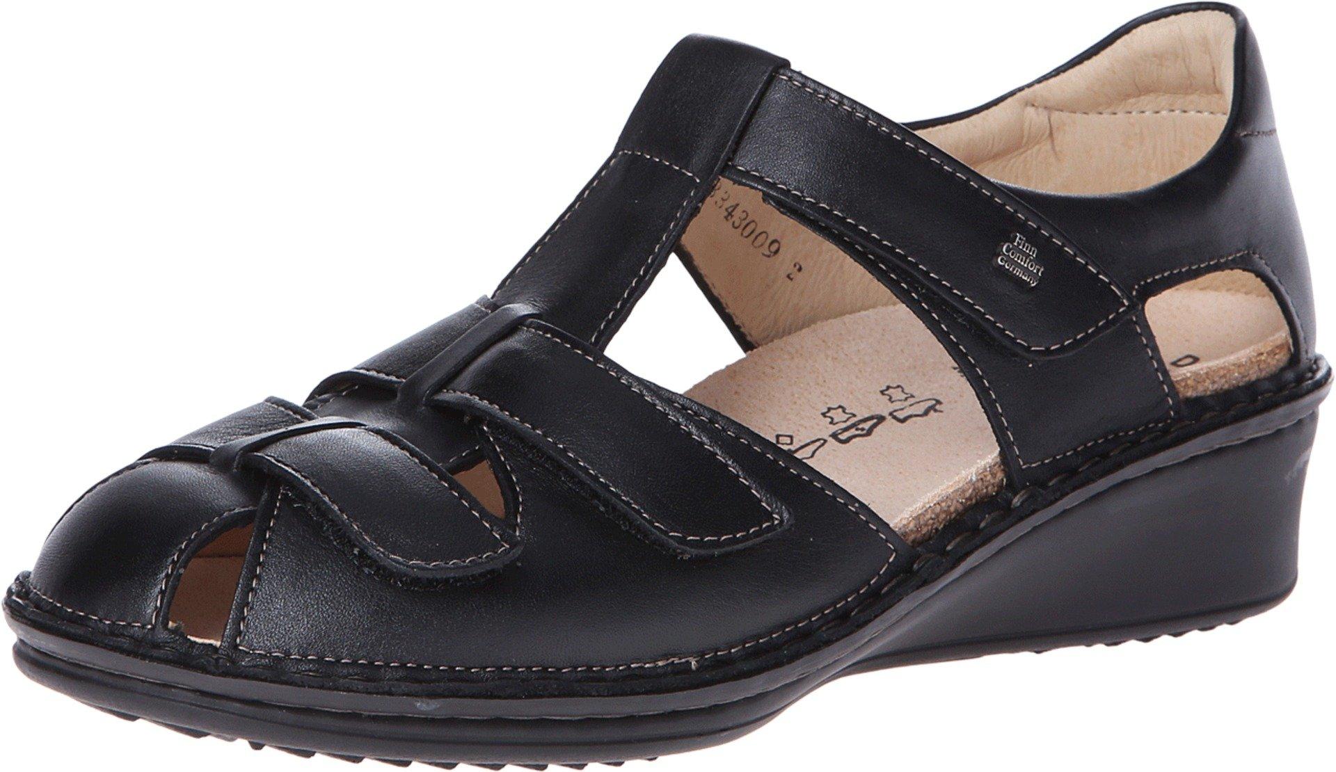 Finn Comfort Women's Fünen Black Nappa Leather Shoe