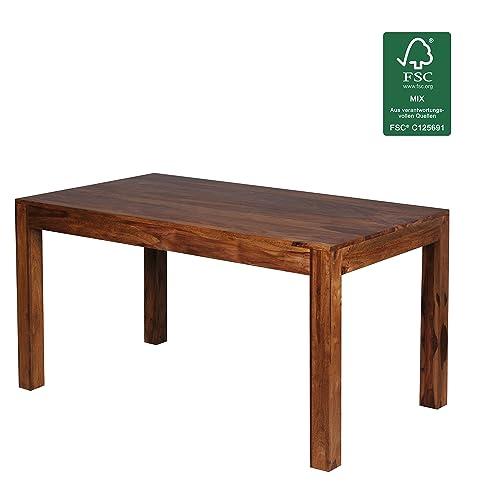 Design Esstisch Holz Massiv 140 X 80 X 76 Cm | Moderner Esszimmertisch  Sheesham Palisander Für