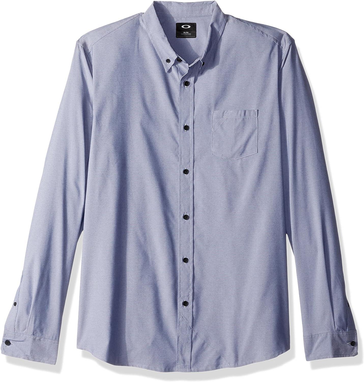 Oakley 401859 - Camisa de Manga Larga para Hombre, Hombre, 401859, Fathom, Small: Amazon.es: Deportes y aire libre