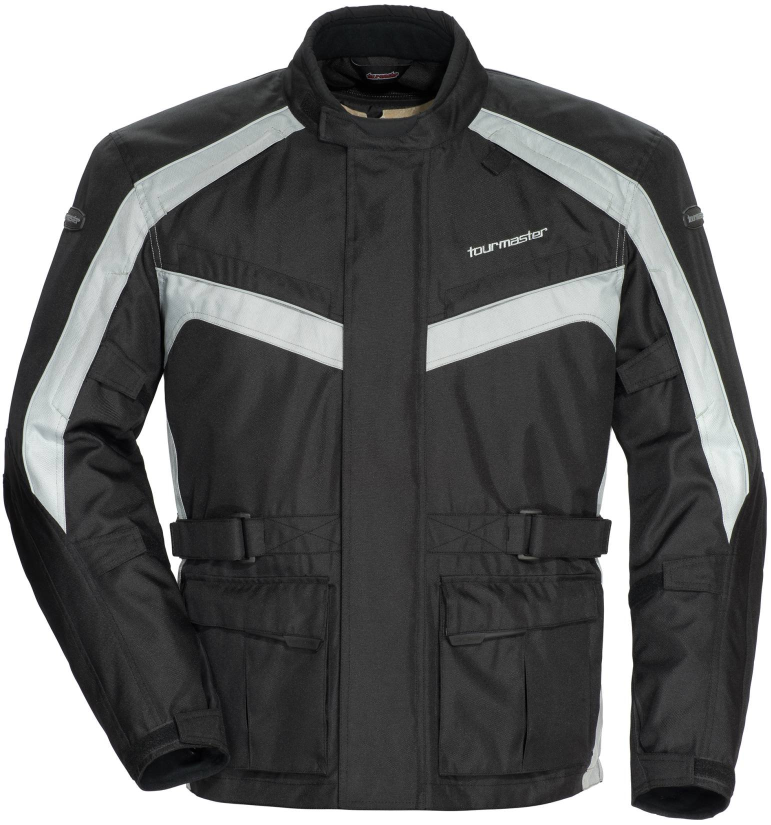 TourMaster Saber 4.0 Men's 3/4 Outer Shell Textile Motorcycle Jacket (Silver/Black, XX-Large)