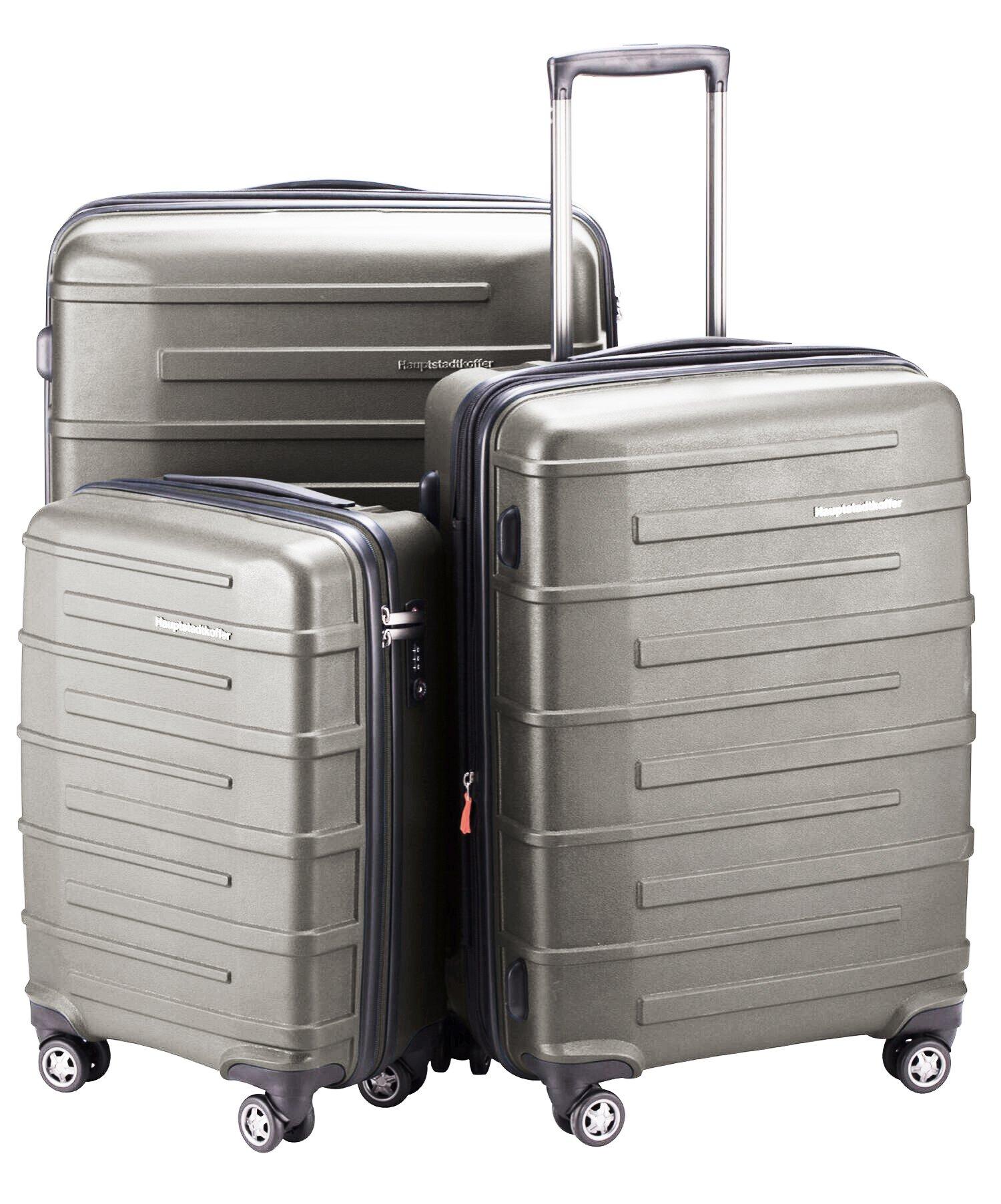HAUPTSTADTKOFFER Ostkreuz Luggages Set Matt Suitcase Set Hardside Spinner Trolley Expandable (20', 24'& 28') TSA Graphite