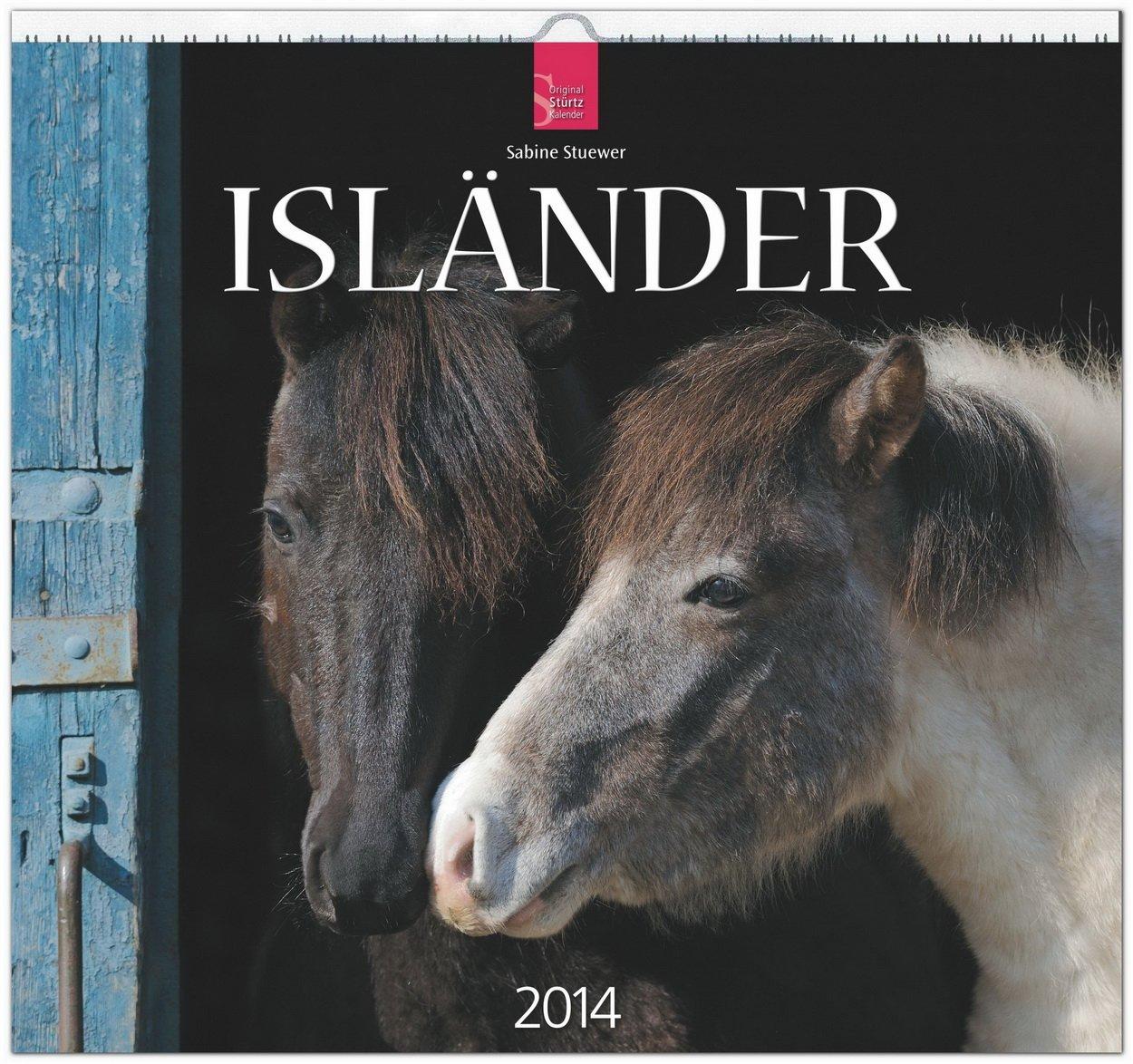 Isländer 2014: Original Stürtz-Kalender - Mittelformat-Kalender 33 x 31 cm [Spiralbindung]
