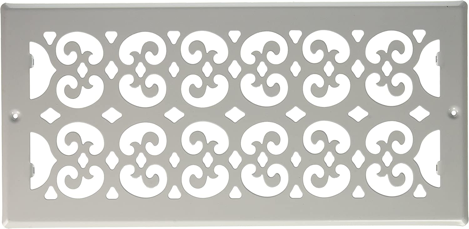 Decor Grates S614R-WH Cold Air Return Register, 6-Inch by 14-Inch, White