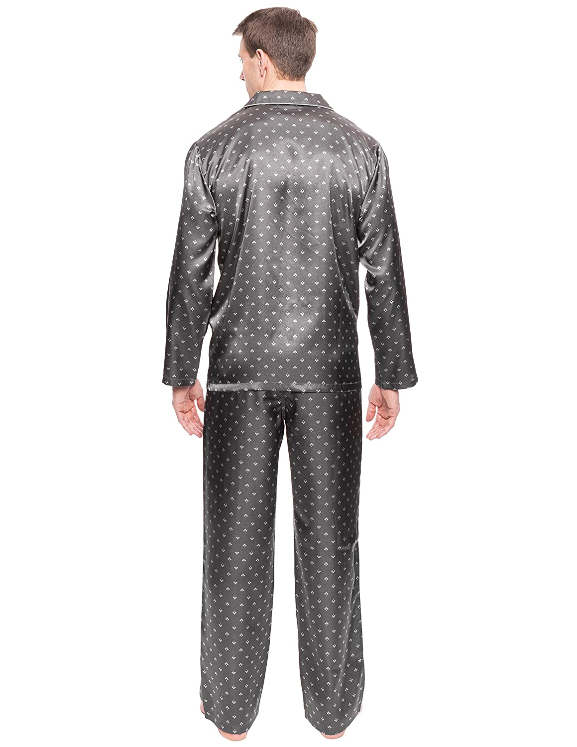 e535269cea Noble Mount Twin Boat Mens Satin Sleepwear Pajama Set at Amazon Men s  Clothing store