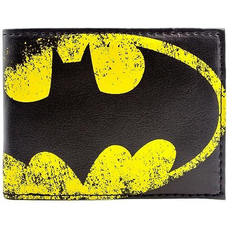 Cartera de DC Batman Símbolo Amarillo de la luz del Palo Negro